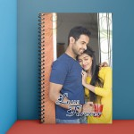 Personalised Notebook Diary printed with Love design 04