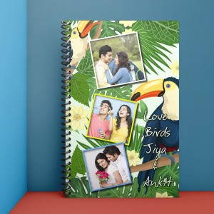 Personalised Notebook Diary printed with Love design 05