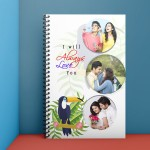 Personalised Notebook Diary printed with Love design 06