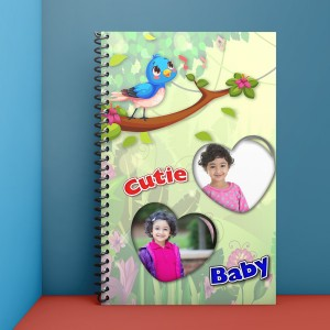Personalized Notebook Diary printed with kids design 03