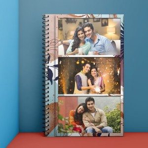 Personalized Notebook Diary printed with Love design 07