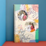 Personalized Notebook Diary printed with Love design 08