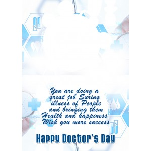 Personalized Doctors Day Greeting Card 002 backview