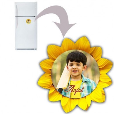 Flower designed personalized fridge magnet
