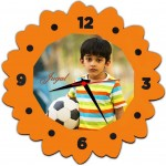 Flower Shaped personalized photo Wall Clock