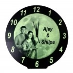 Glow in dark (radium) photo Clock ( 11 in round )
