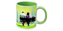 Your Design Green Handle and Inside green mug
