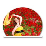 Personalized half circle acrylic photo stand - large