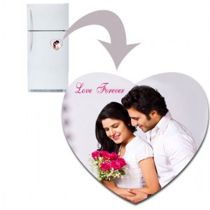Heart shaped personalized fridge magnet