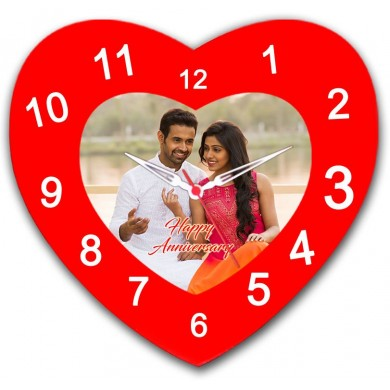 Heart Shaped Personalized Wall Clock - Valentine's day gift