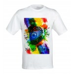 Indian Map with Ashoke Chakra Patriotic tshirt personalized with name