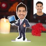 IT Professional Caricature Photo Stand In