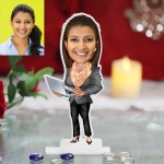 IT Software Lady caricature Photo Stand In