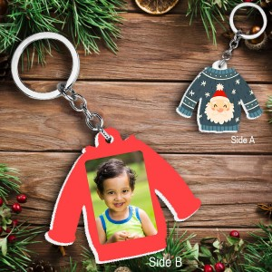 Acrylic based Christmas Sweater shaped Key Ring