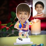 Kid boy with medal personalized Caricature Photo Stand In