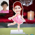 Kid girl dancing personalized Caricature Photo Stand In