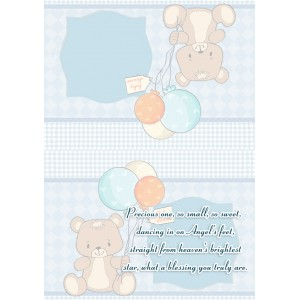 Personalized New Baby Greeting Card 005 backview