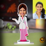Lady Doctor in Saree Photo Stand In