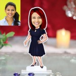 Lady in frock caricature Photo Stand In