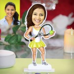 Lady tennis player caricature Photo Stand In