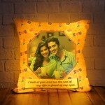 Personalized LED Cushion with love quote