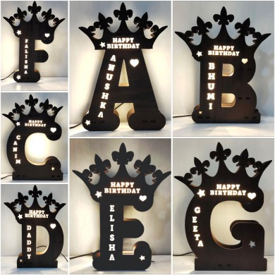 A to Z Glowing LED Name Board