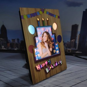 Personalized Birthday LED Glowing Table Frame backview
