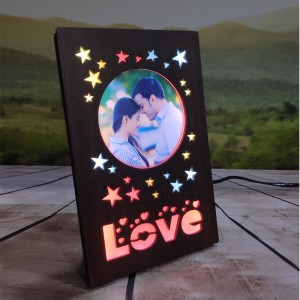 Personalized Love Star LED Glowing Table Frame backview