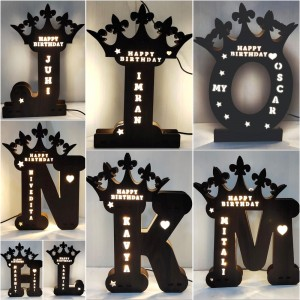 A to Z Glowing LED Name Board backview