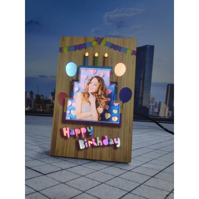 Personalized Birthday LED Glowing Table Frame