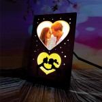 Personalized First Kiss LED Glowing Table Frame