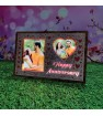 Personalized Happy Anniversary LED Glowing Table Frame