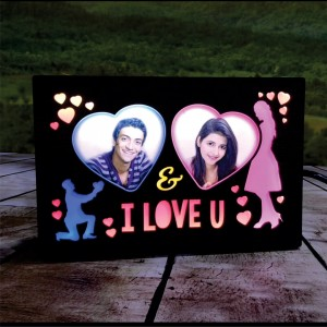 Personalized I Love You LED Glowing Table Frame