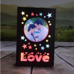 Personalized Love Star LED Glowing Table Frame