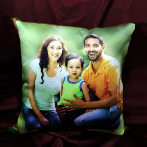 "Glowing Light Mosaic Pillow with Magic Effect  both side print  15""x 15"" backview"