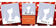 Silver sparkling personalized photo mug Design 3