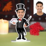 Magician Caricature Photo Stand In