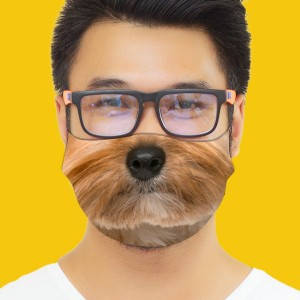 3D Print Dog Fabric Face Cover 2pc Set backview