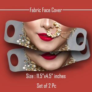 3D Print female face expressions Face Cover Mask set of 2 pc FC backview