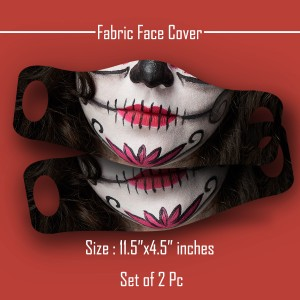 3D Print female face expressions Face Cover Mask set of 2 pc FE backview