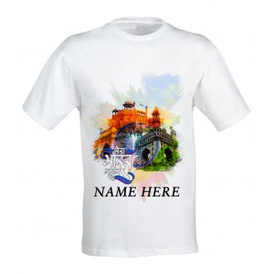 Mera Bharat Mahan Patriotic tshirt personalized with name