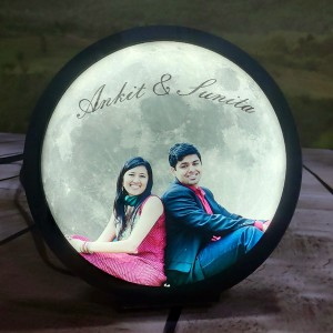 Moon Lamp Small LED Light with Photo backview