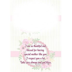 Personalized Mothers Day Greeting Card 003 backview