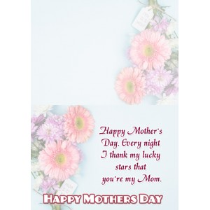 Personalized Mothers Day Greeting Card 004 backview