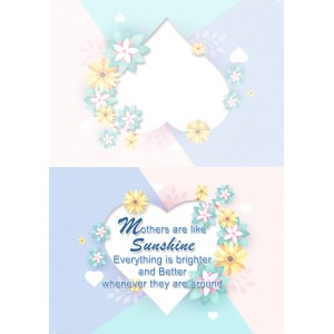 Personalized Mothers Day Greeting Card 005 backview