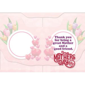 Personalized Mothers Day Greeting Card 006 backview