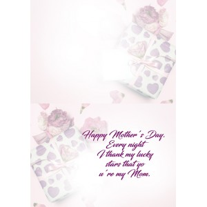 Personalized Mothers Day Greeting Card 009 backview