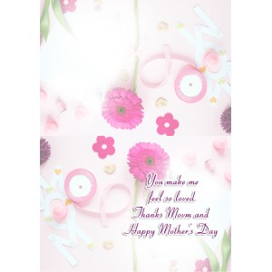 Personalized Mothers Day Greeting Card 010 backview
