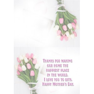 Personalized Mothers Day Greeting Card 011 backview
