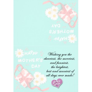 Personalized Mothers Day Greeting Card 012 backview